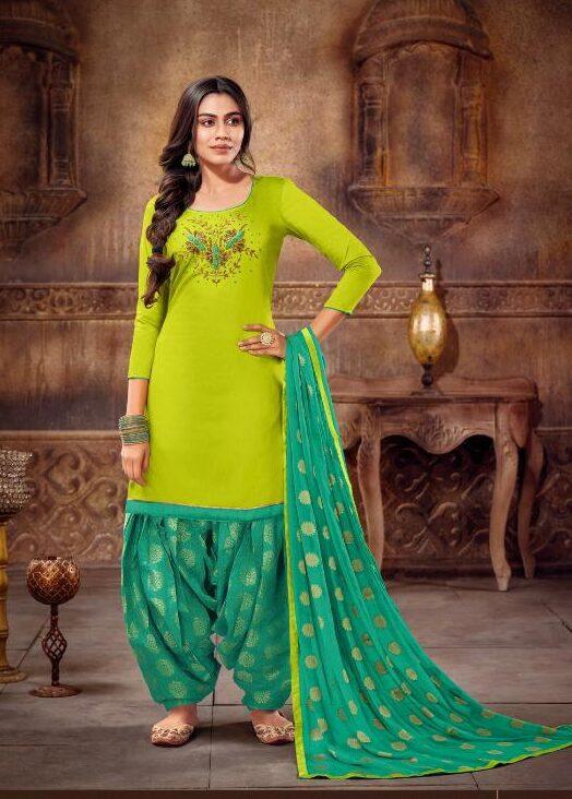Grass Colour Punjabi Patiala Salwar Suit 2021