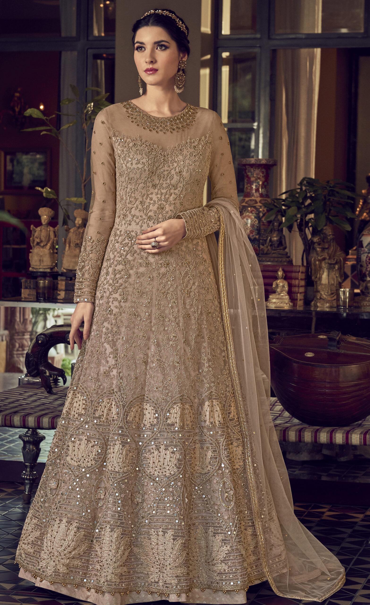 Kundali Bhagya Preeta Dress Gown Net with Dupatta