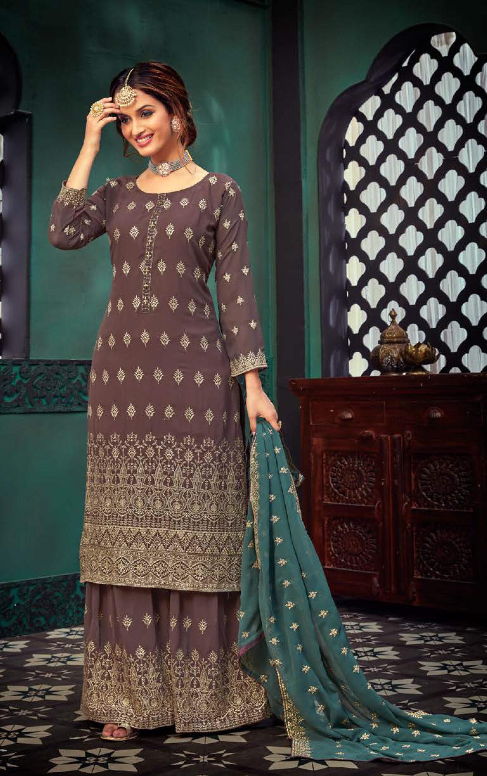 Light Brown Colour Punjabi Suit Salwar Design 2021