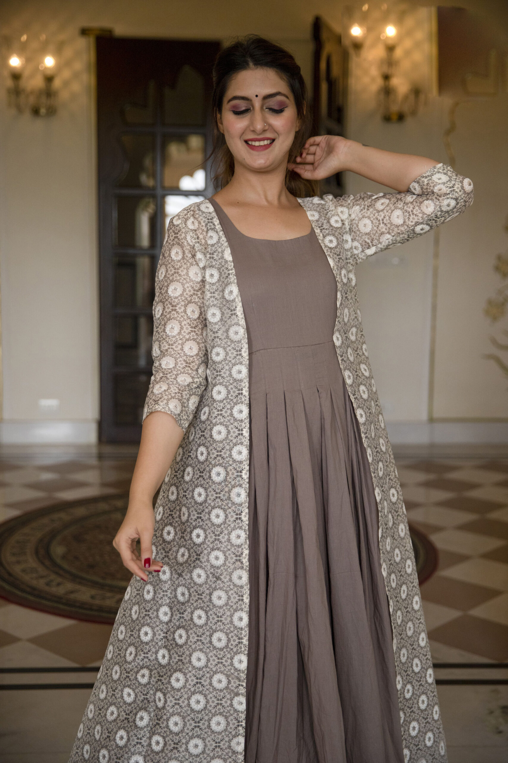 New Trend Designer Jacket Style Ananrkali Kurti.