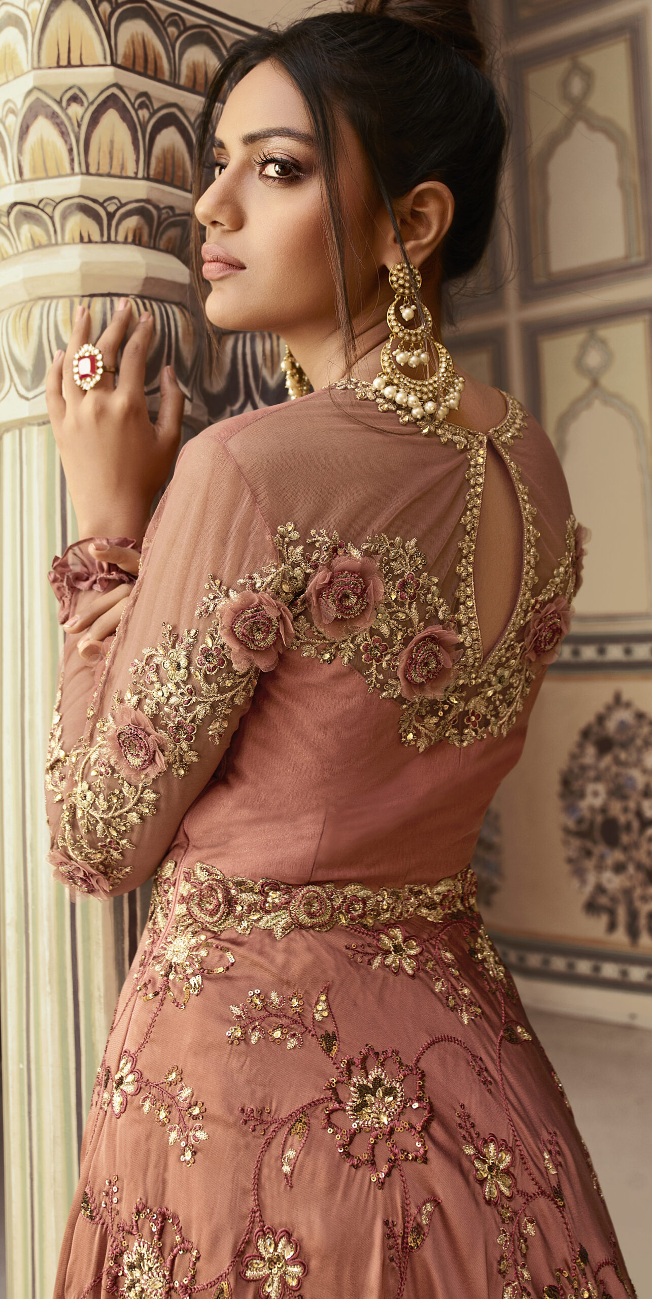 Latest Party Wear Gown for Ring Ceremony