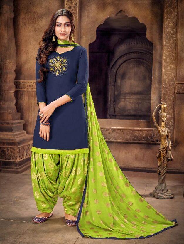 Party Wear Punjabi Full Patiala Suit with Dupatta