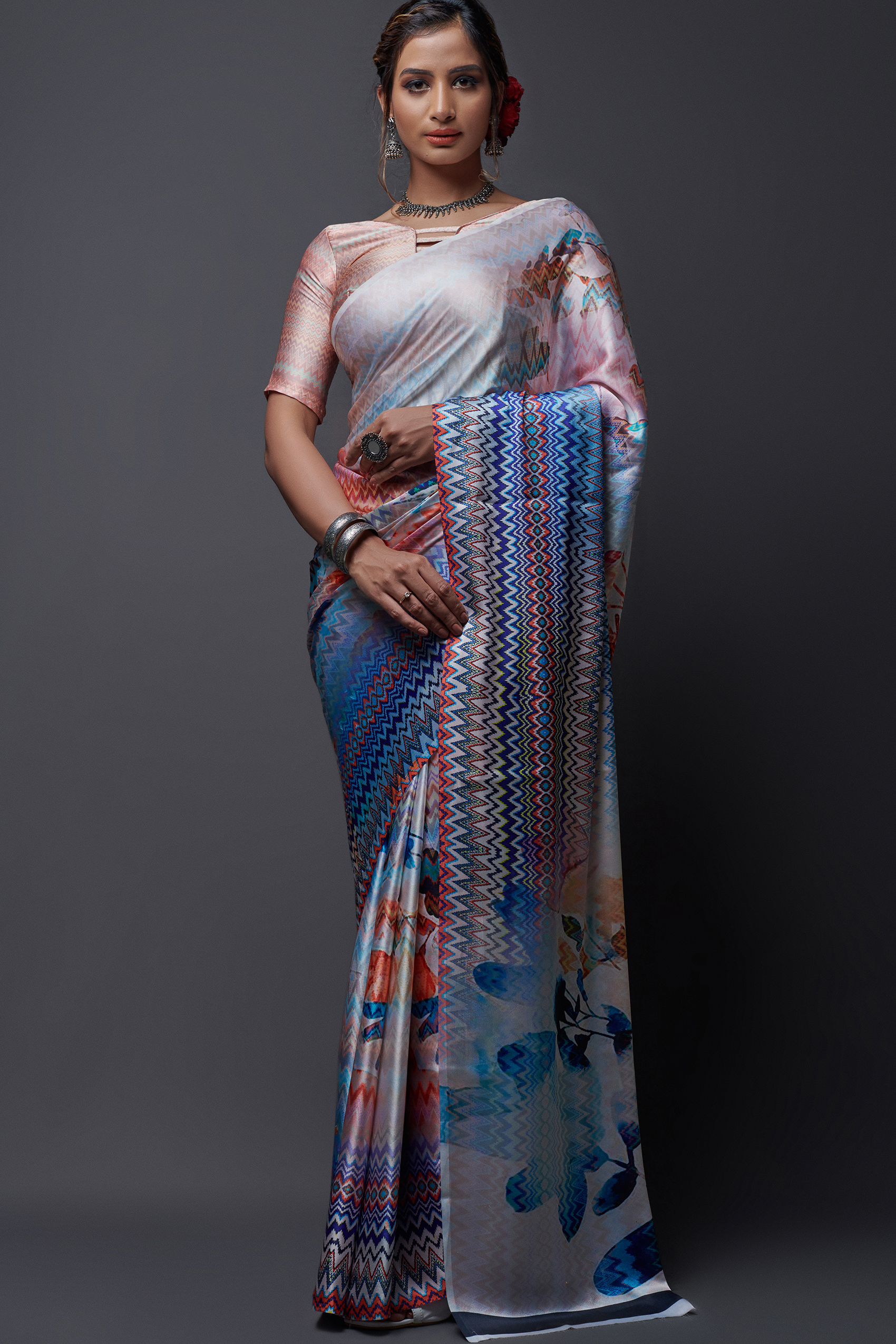 Digital Print Latest Saree Designs 2021