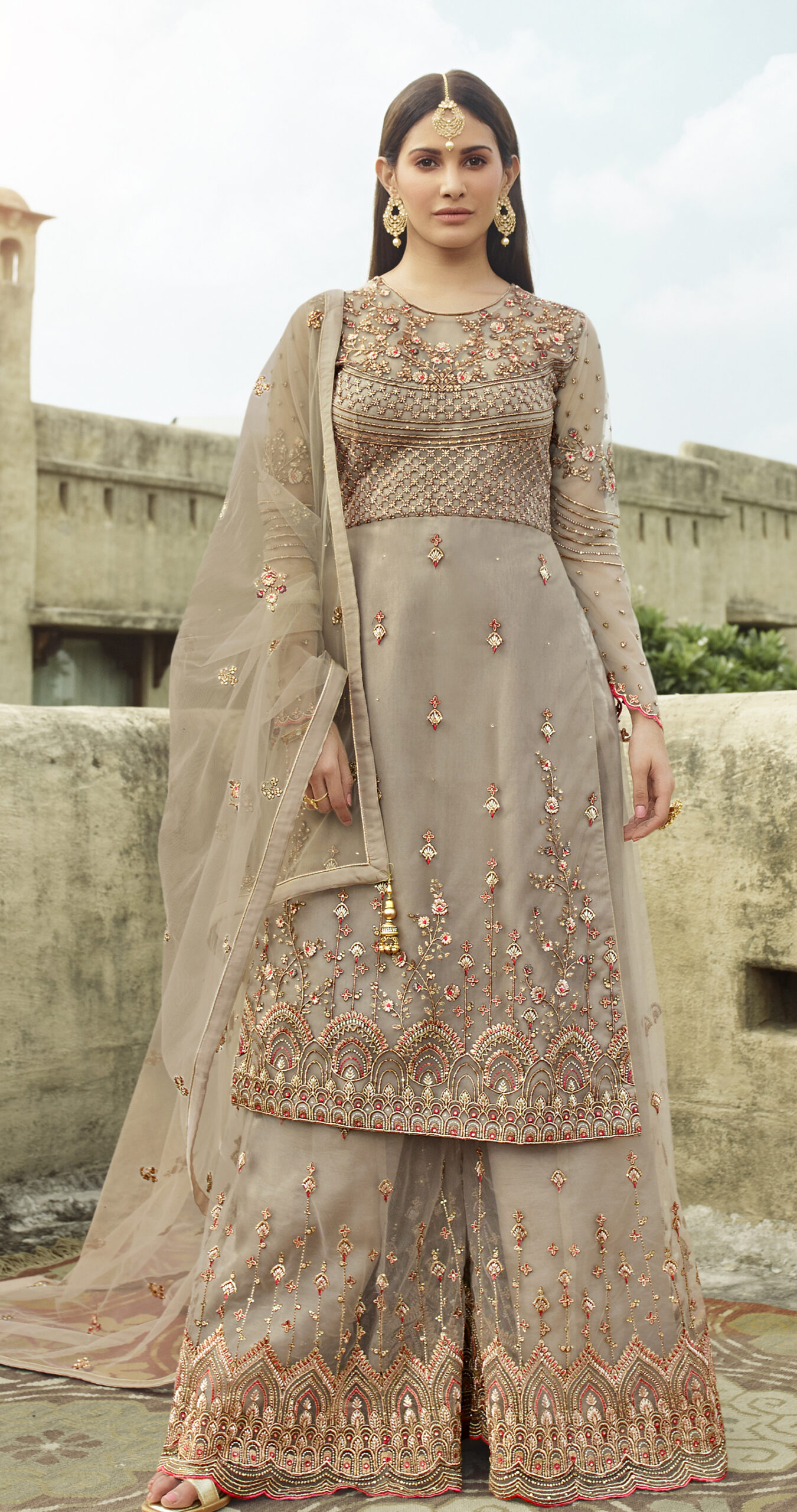 Baby Pink Salwar Suits for Wedding