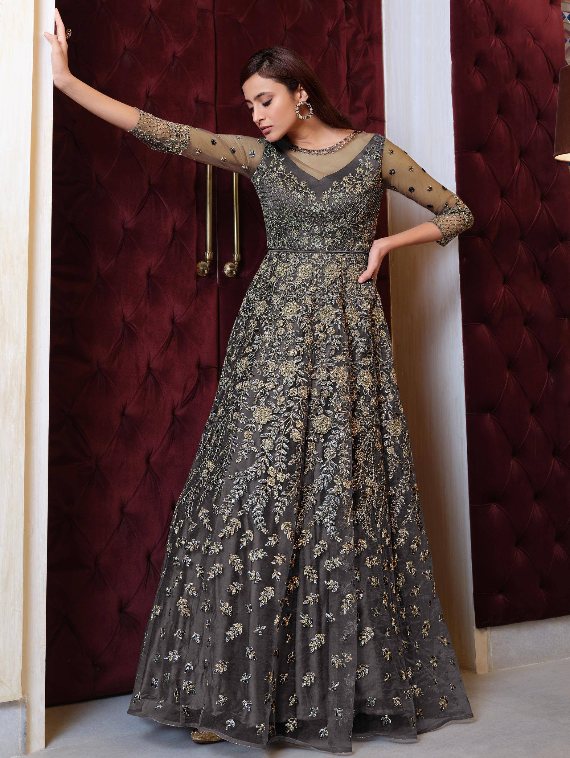 Party Wear Net Gown Design 2021