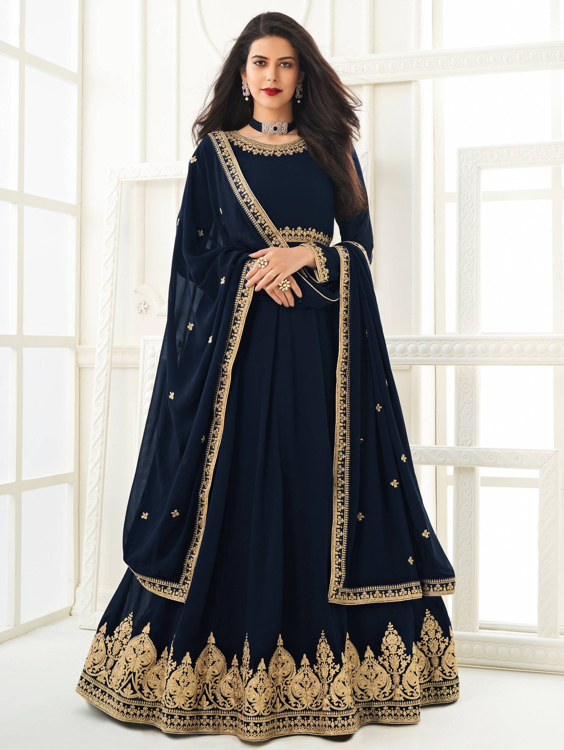 Royal Blue Wedding Gown for Women 2021