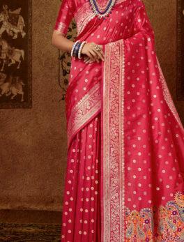 Red Silk Saree Under 2000