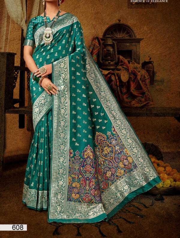 Wedding Saree for Bride in Green Colour