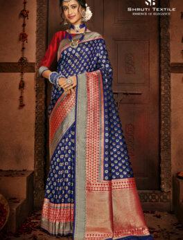 Silk Saree Simple Blouse Design
