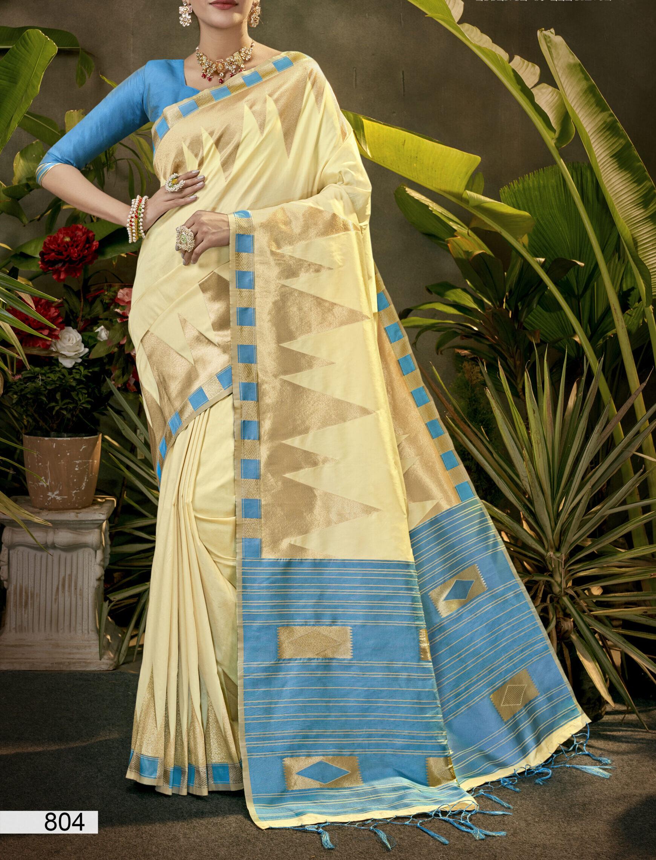 Fancy Saree Designer  Contrast Blouse