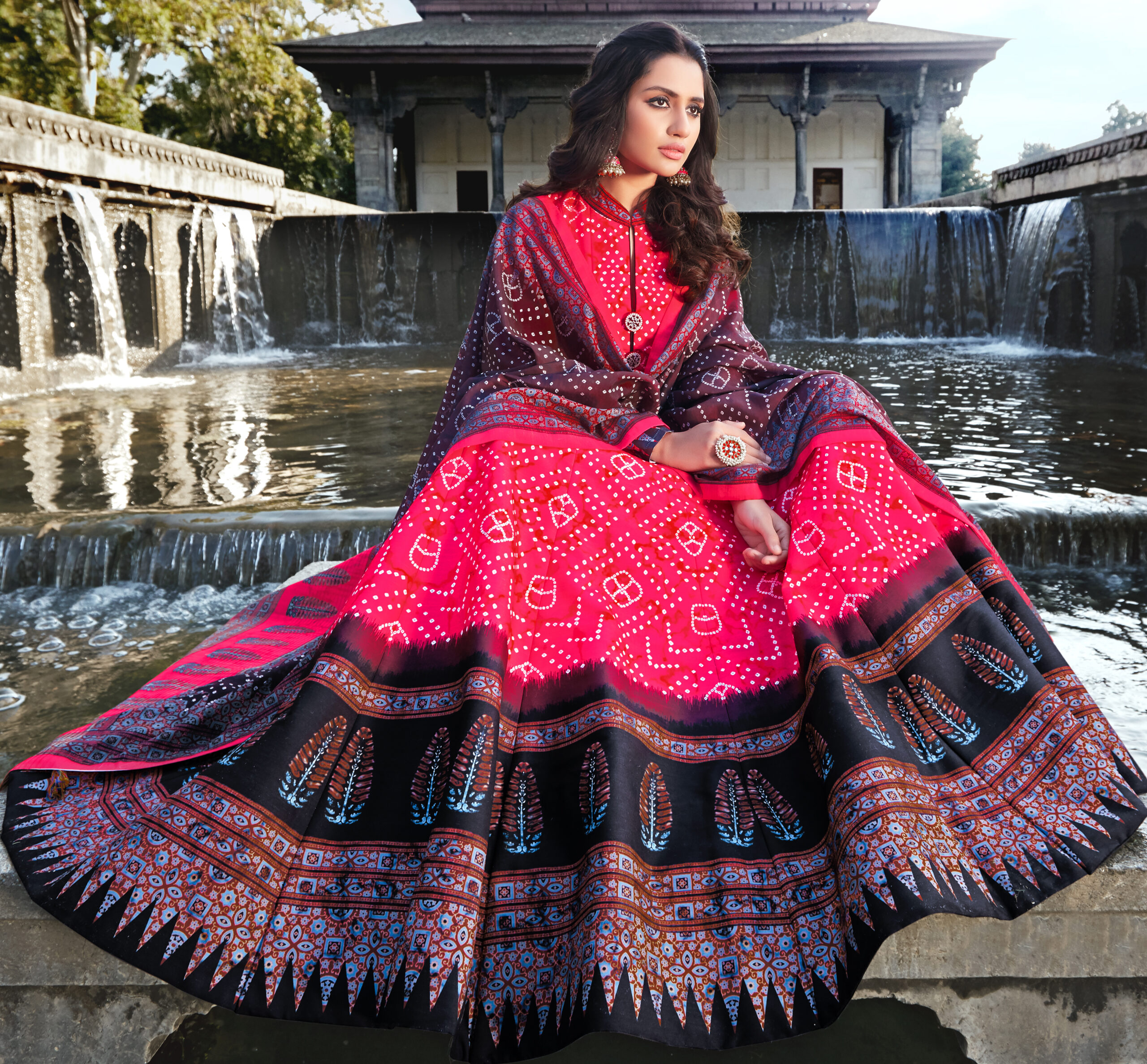 Anarkali Gown with Dupatta for Wedding