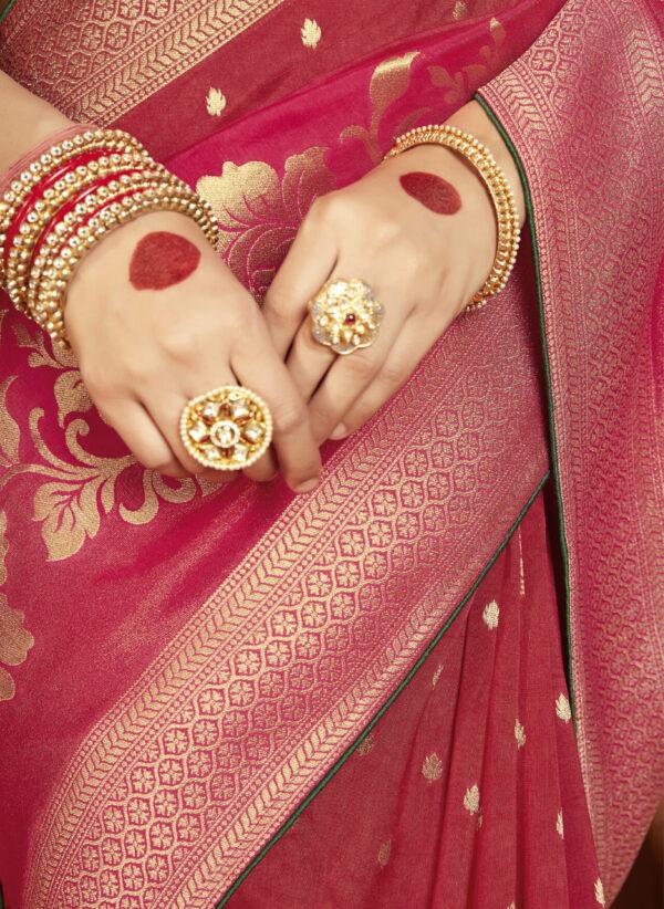 Wedding Silk Saree in Red Colour