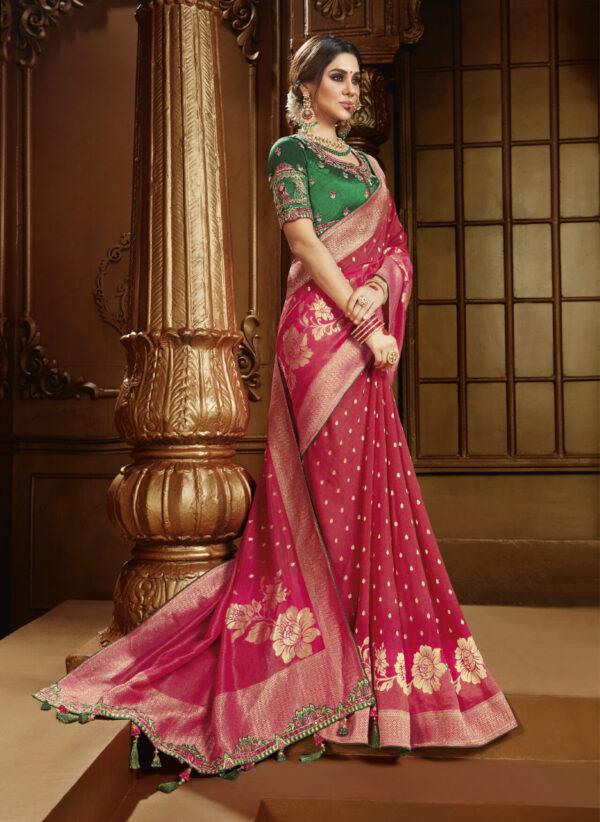 Red Silk Saree for Bride