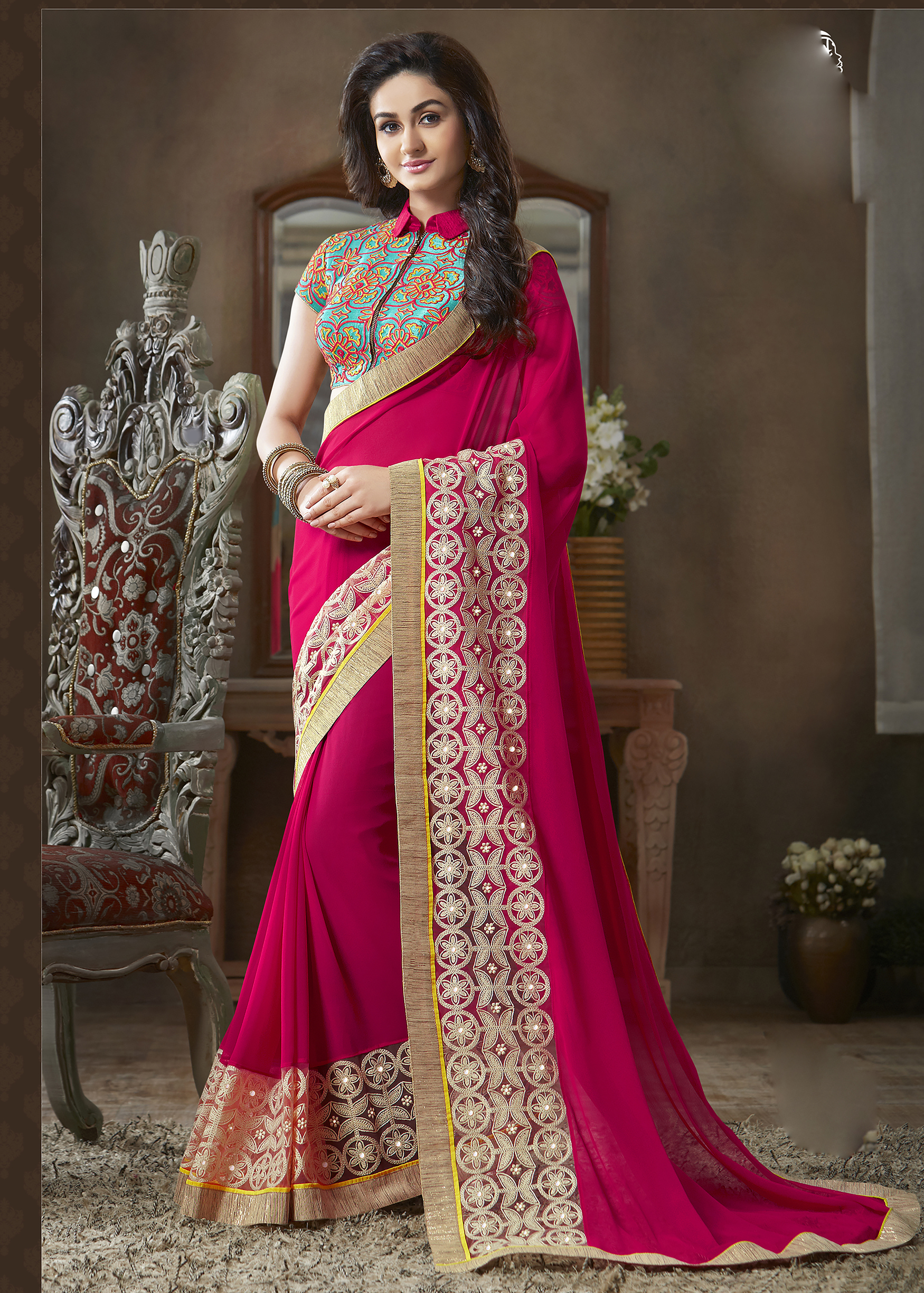 Best Saree Collection with Designer Blouse