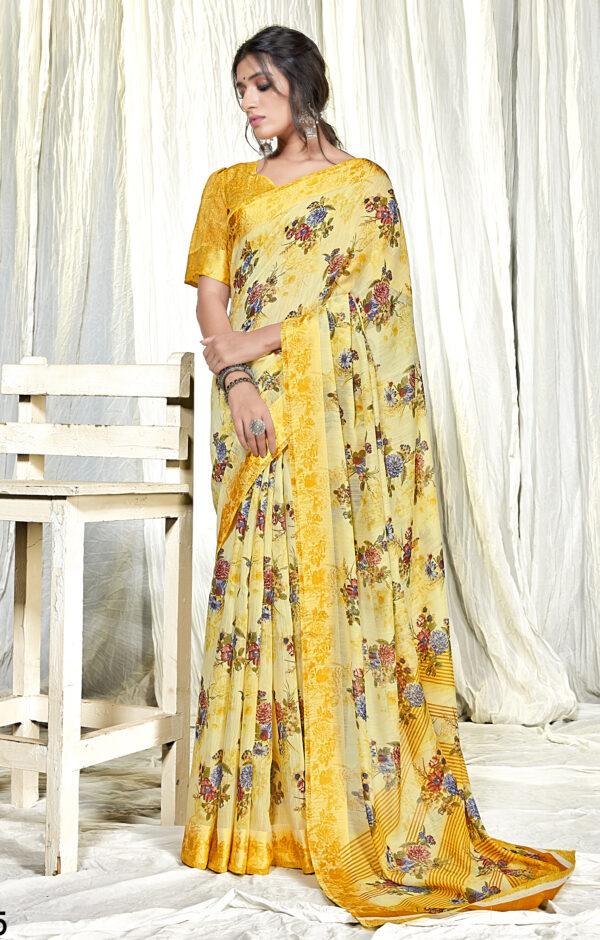 Latest Price of Linen Saree Online