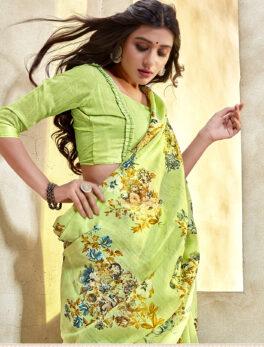 Lemonade Saree in Linen