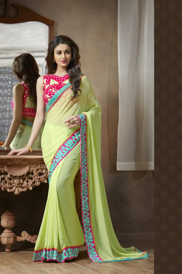 New Designer Best Saree Colour Combination