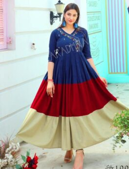 New Stylish Fancy Embroidered Anarkali Dress for Women