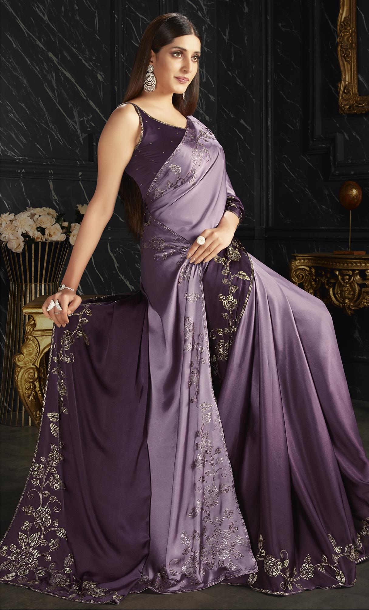 Satin Silk Best Saree Design Online