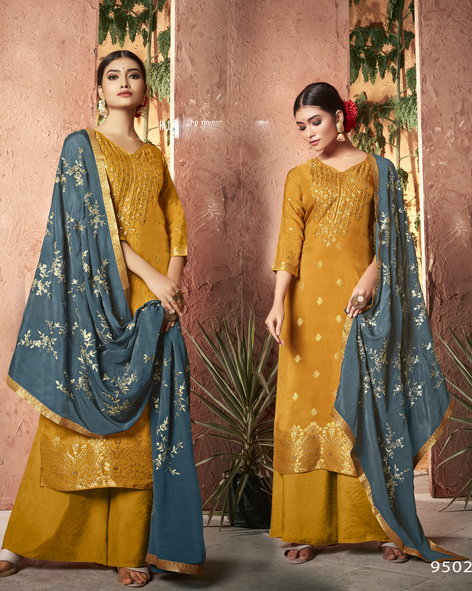 Yellow Colour Salwar Suits Party Wear New