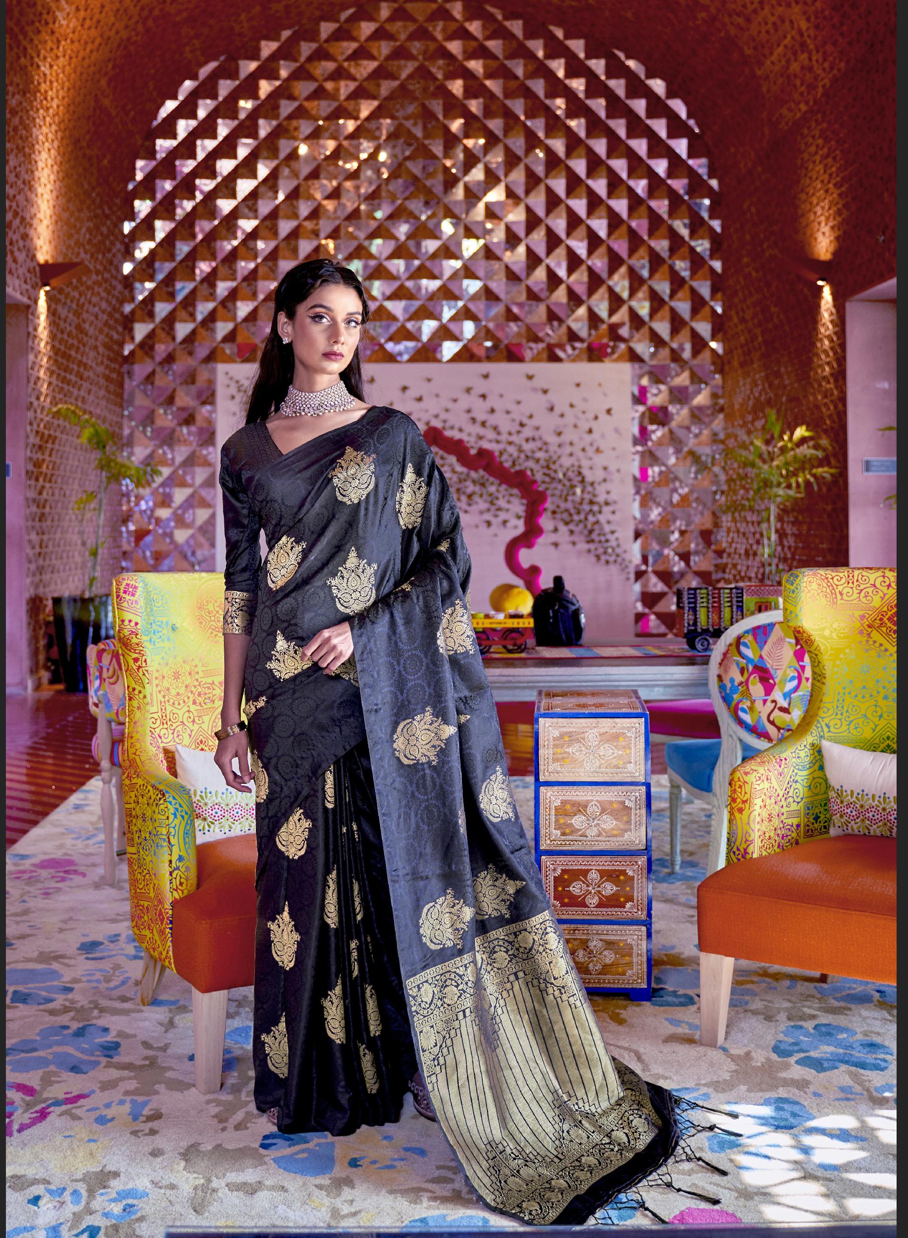 New Saree Design 2021 in Silk