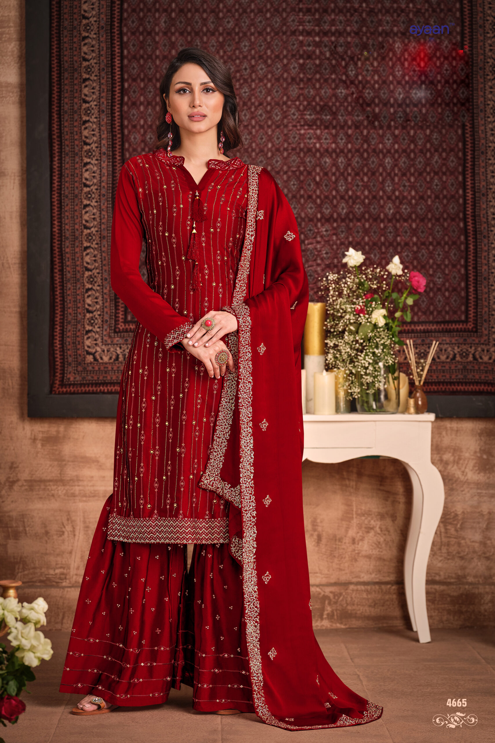 Punjabi Sharara Suits Party Wear