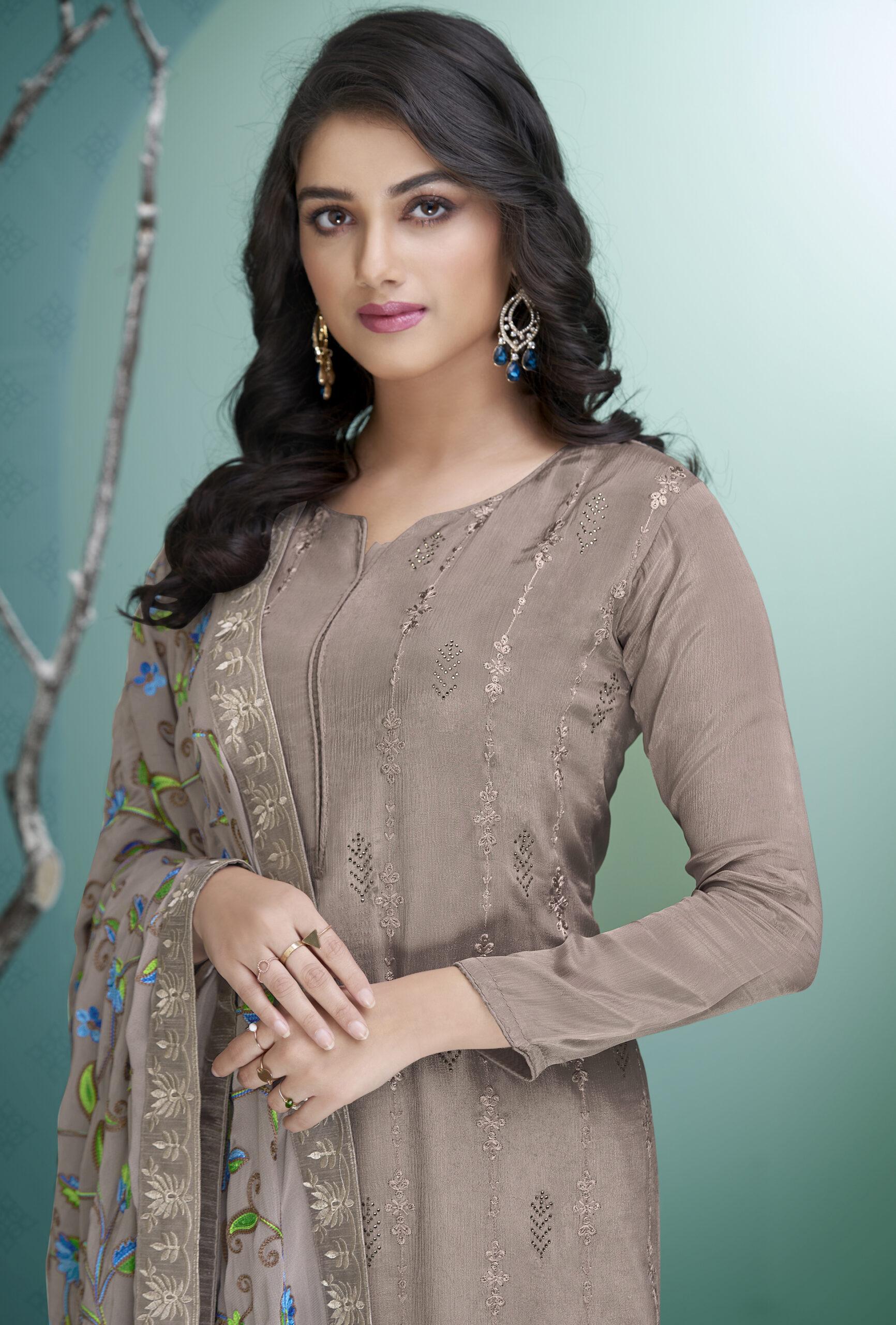 Best Designer Georgette Salwar Suits with Heavy Dupatta