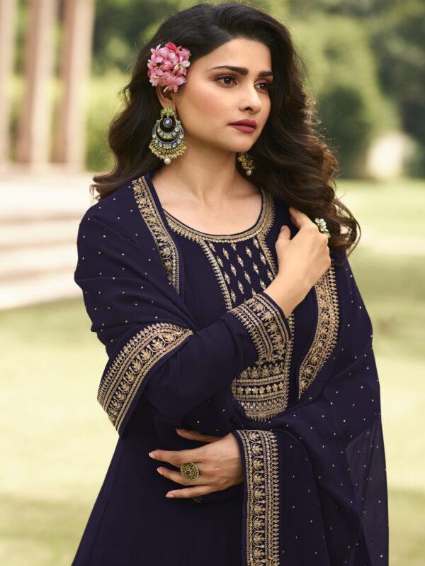 Latest Party Wear Royal Blue Anarkali Suit
