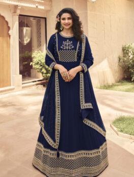 Party Wear Royal Blue Anarkali Suit