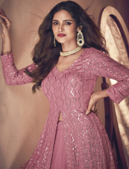 Designer Baby Pink Latest Gown Design 2021 with Price