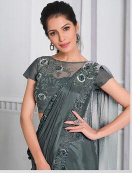 latest designer party wear sarees 2021