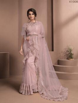 Latest Designer Pink Soft Silk Saree 2021
