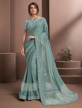 Designer Ruffle Saree Soft Silk Online