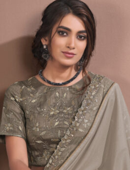 Brown Colour Designer Fancy Saree for Wedding