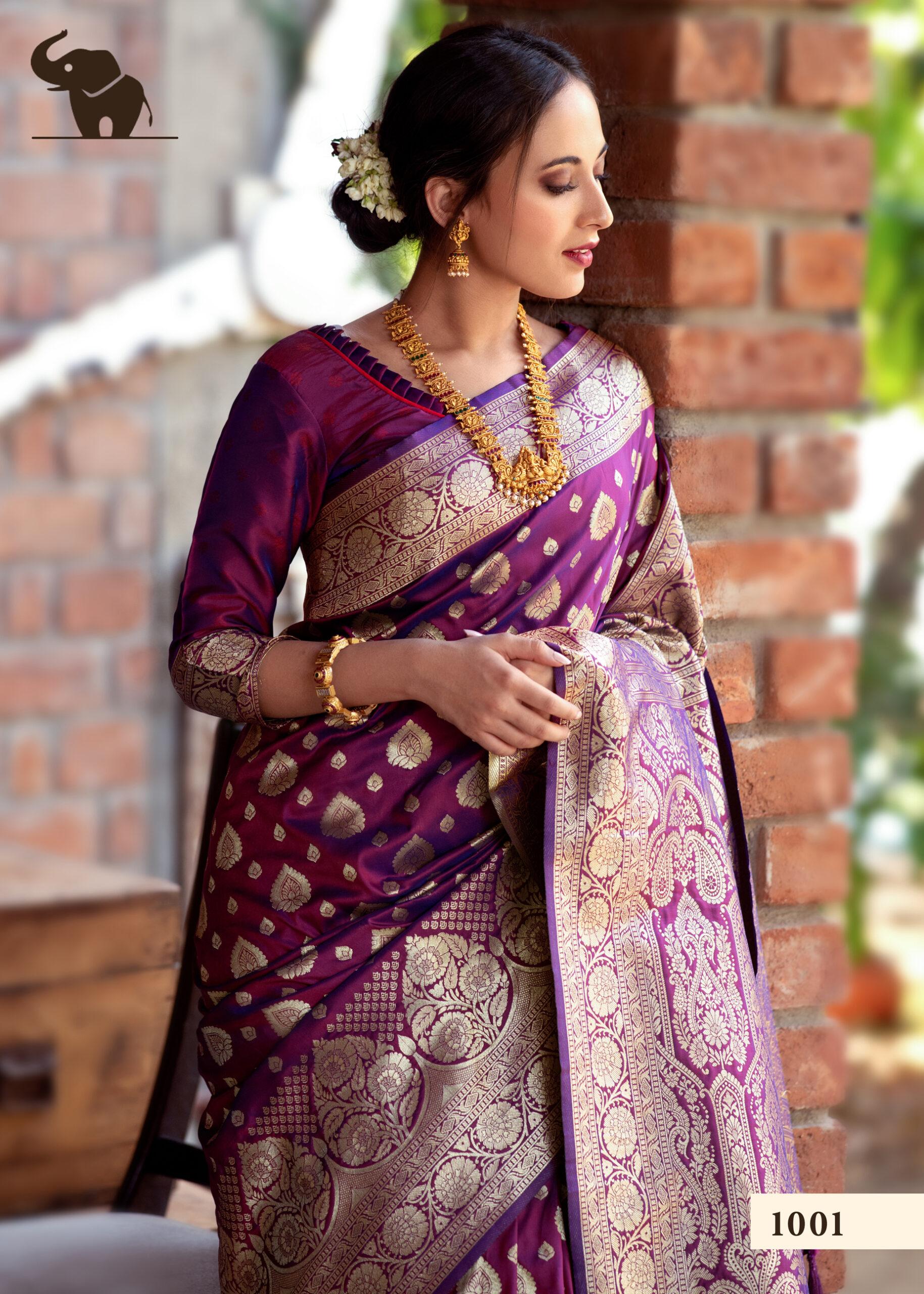 Party Wear Banarasi Silk Saree Price