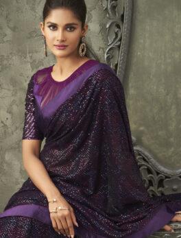 Sequin Saree Design Bollywood Style 2021
