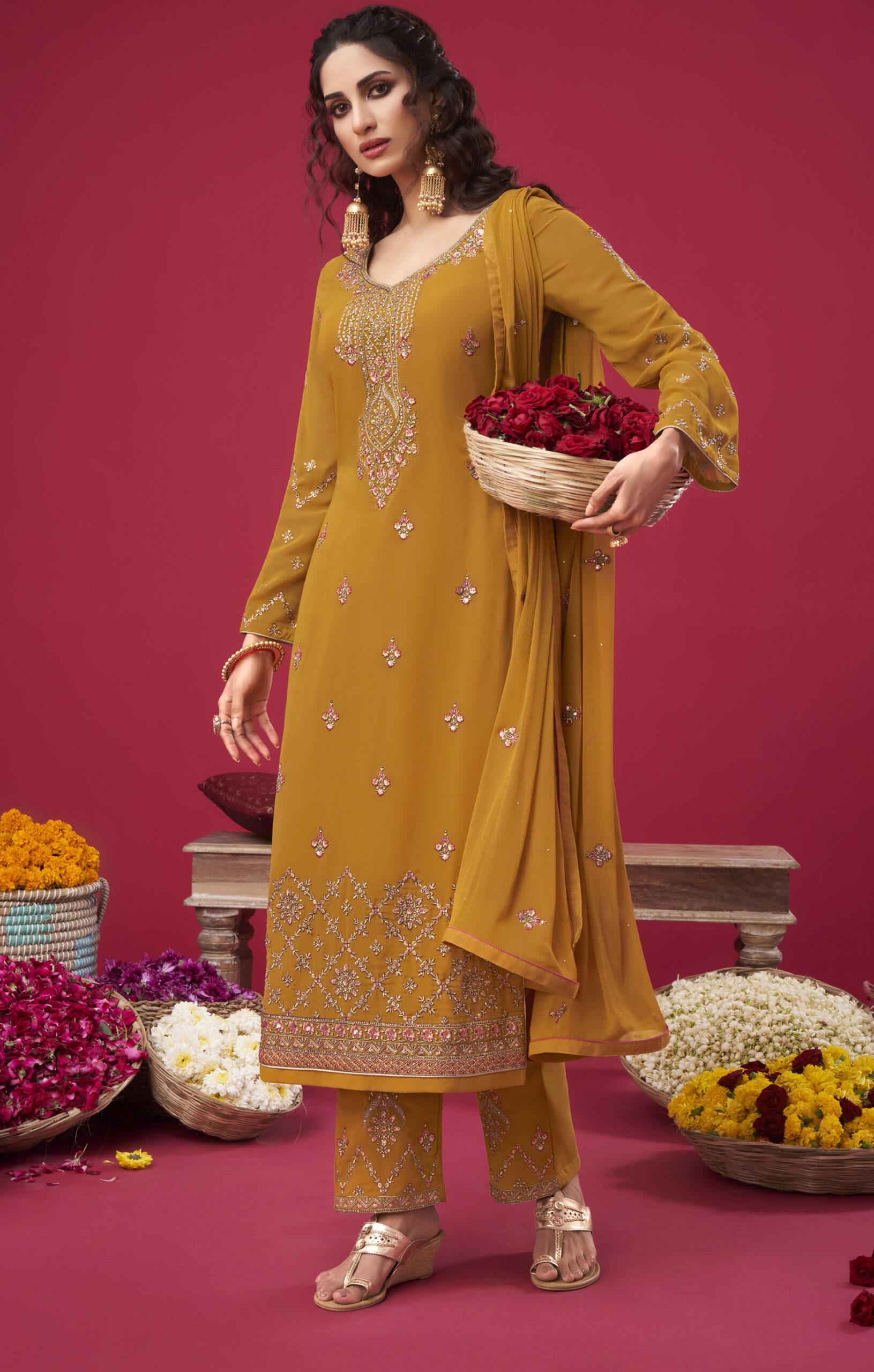 Yellow Colour Punjabi Party Suit