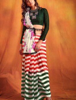 Designer Floral Print Designer Saree Images
